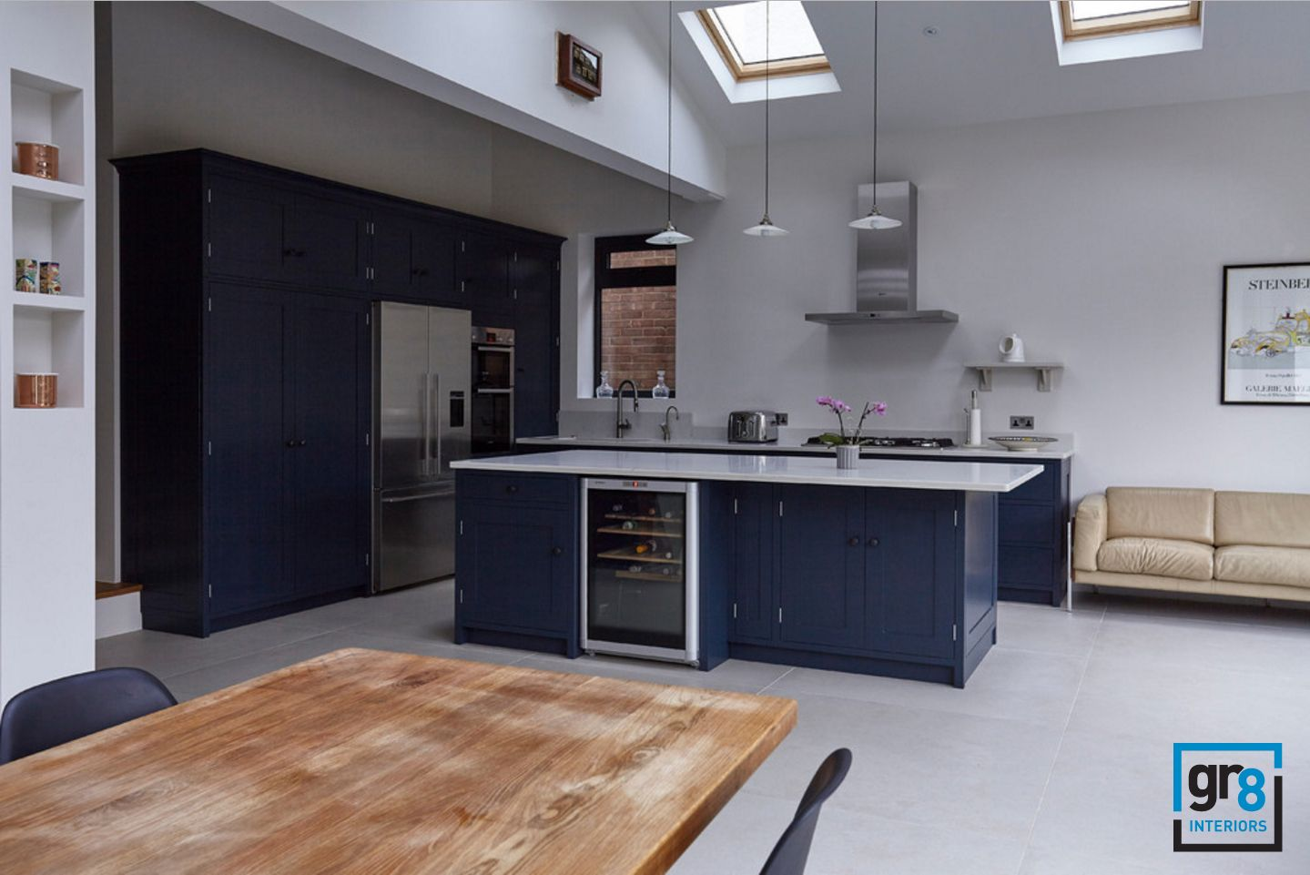Contemporary kitchen dormer windows open kitchen extension