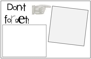 Print On Your Post It Notes DonT Forget Template  Printables