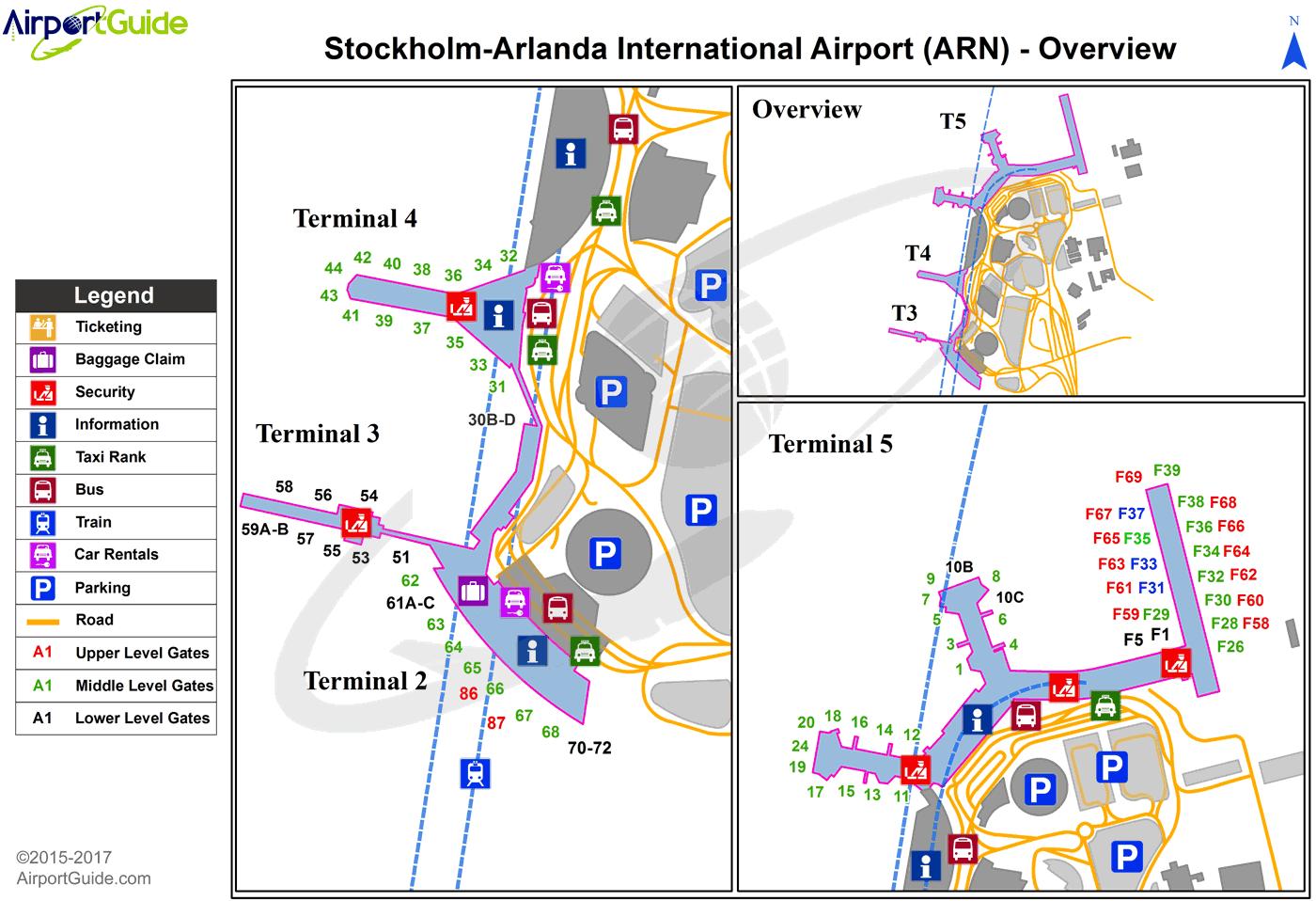 Stockholm StockholmArlanda (ARN) Airport Terminal Map