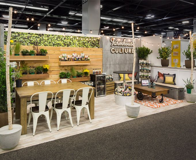 2f797121fd81 Beautiful branded environment from Farmhouse Culture custom trade show  exhibit at Expo West. Is it art