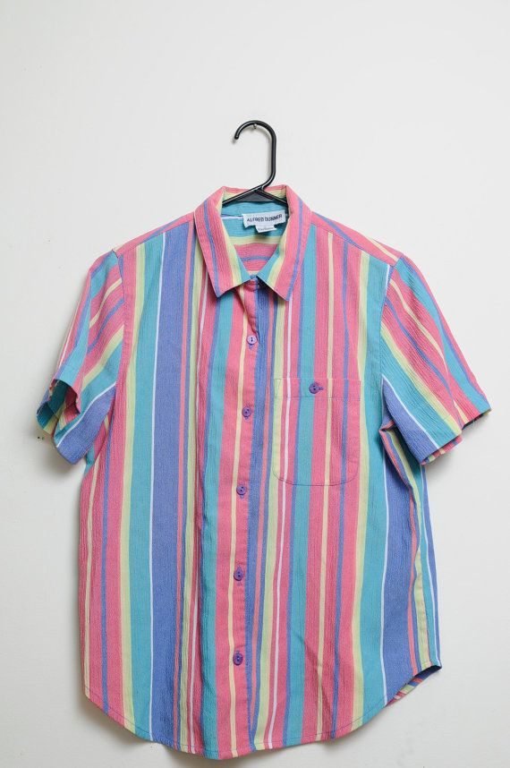 12860587a83c21 Vintage 80s/90s Button Up Funky Fresh Bright by LipstickDinosaur, $25.00  90s Shirts,