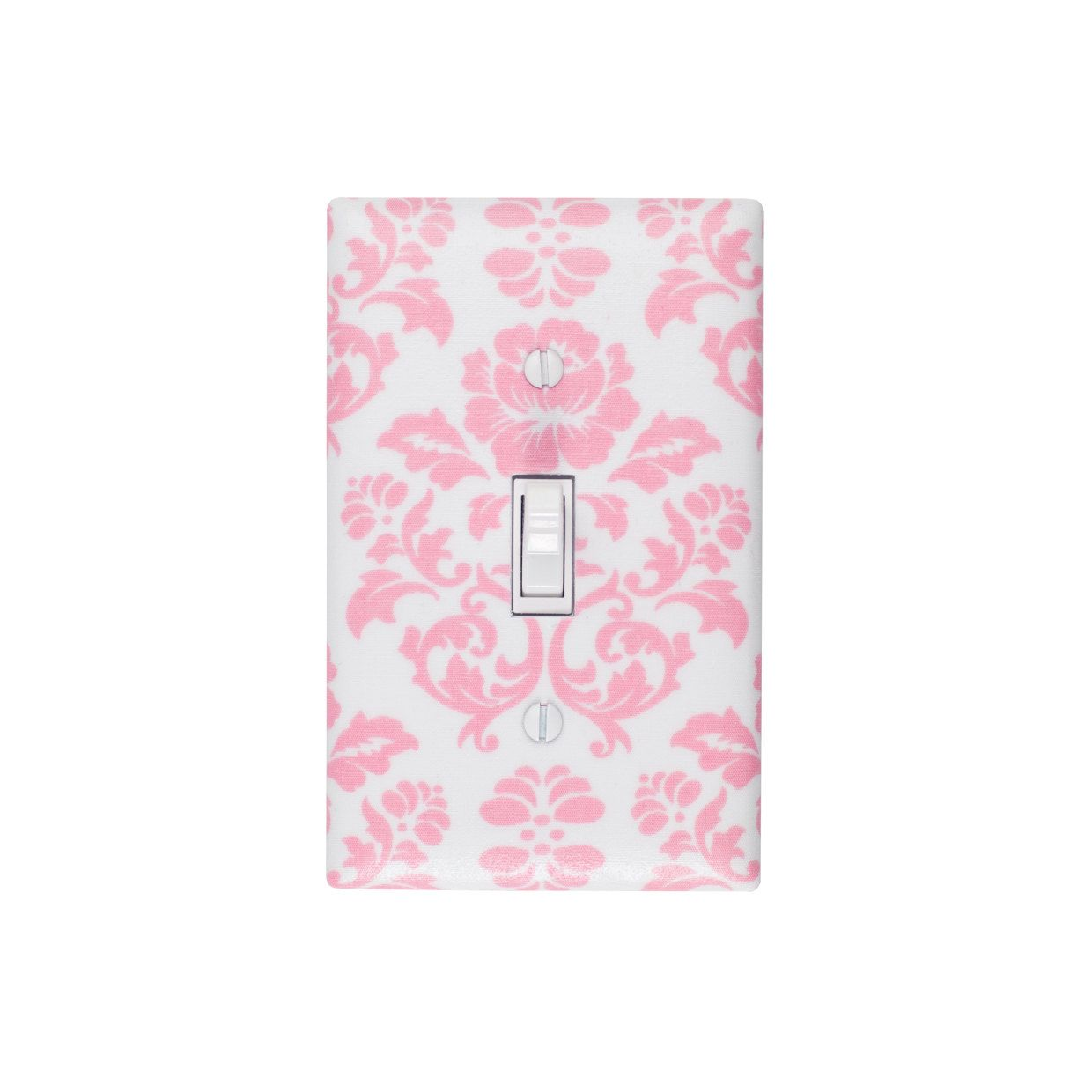 Damask Light Switch Plate Cover / Pink and White / by SSKDesigns, $16.00