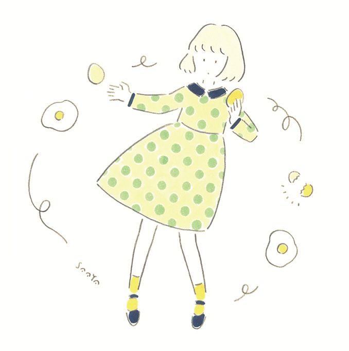 たまごまご 2014 2 Saaya Masaki キュートなイラスト 水彩画