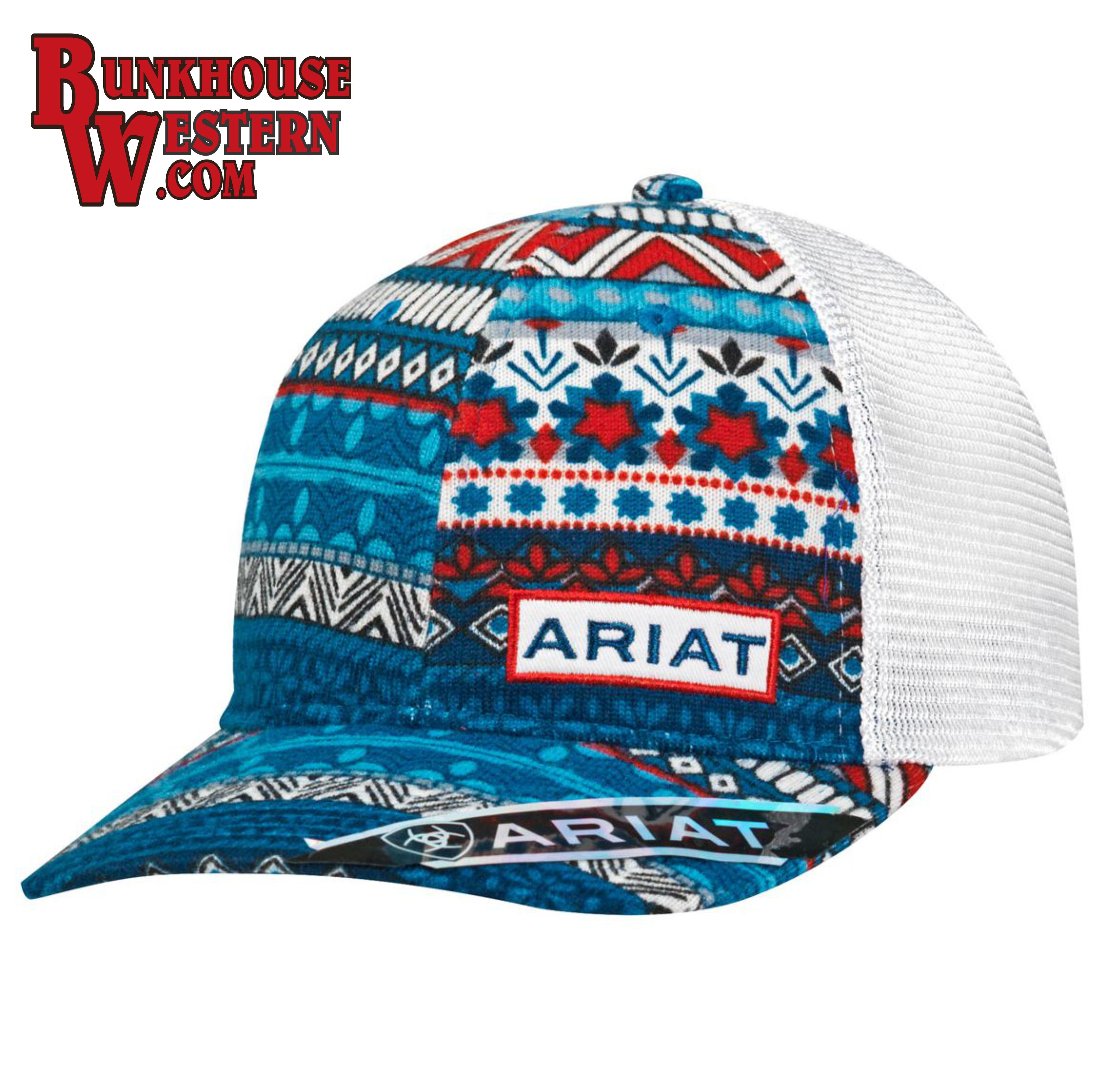 08763acf55524 Ariat Red White   Blue Cap in 2019