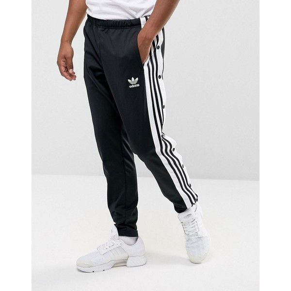 adidas Originals Adibreak Popper Track Jogger In Black BR2232 ($78) ❤ liked  on Polyvore