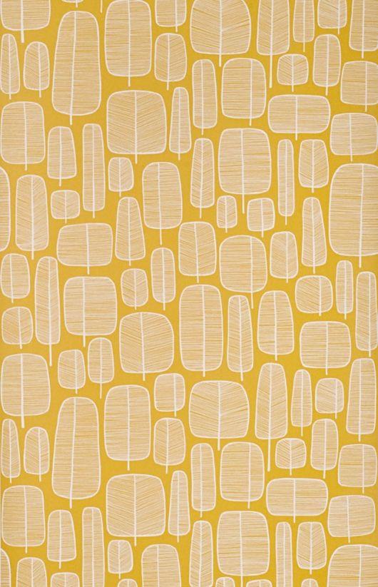 Miss Print 2 Misp1060 Yellow Wallpaper Tree Wallpaper Modern Wallpaper