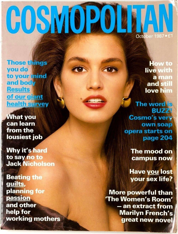 Cindy Crawford Cosmopolitan Oct 1987 Cindy Crawford Crawford Cosmo Girl