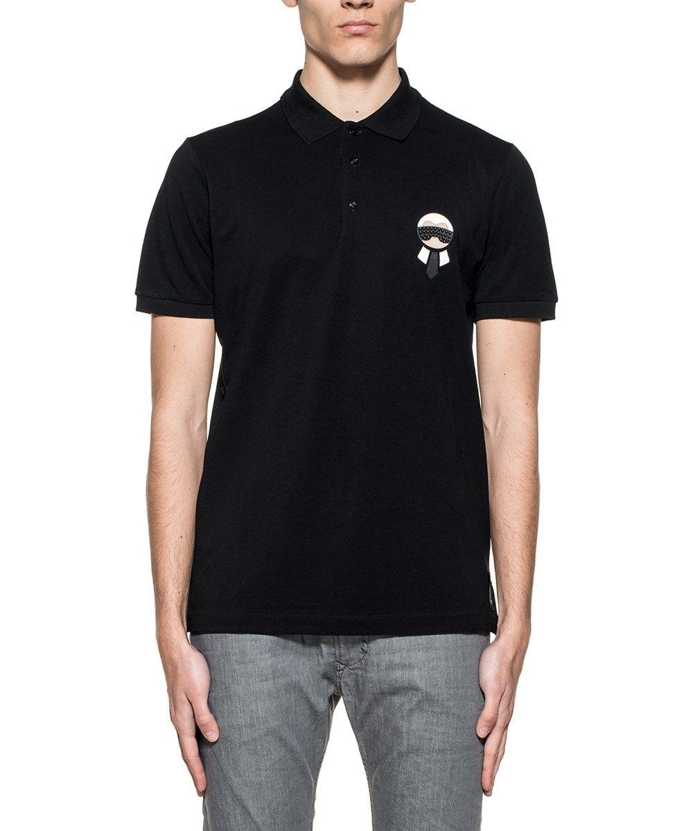 FENDI Fendi Men'S Fy0837Onzf0Qa1 Black Cotton Polo Shirt'. #fendi #cloth #polos