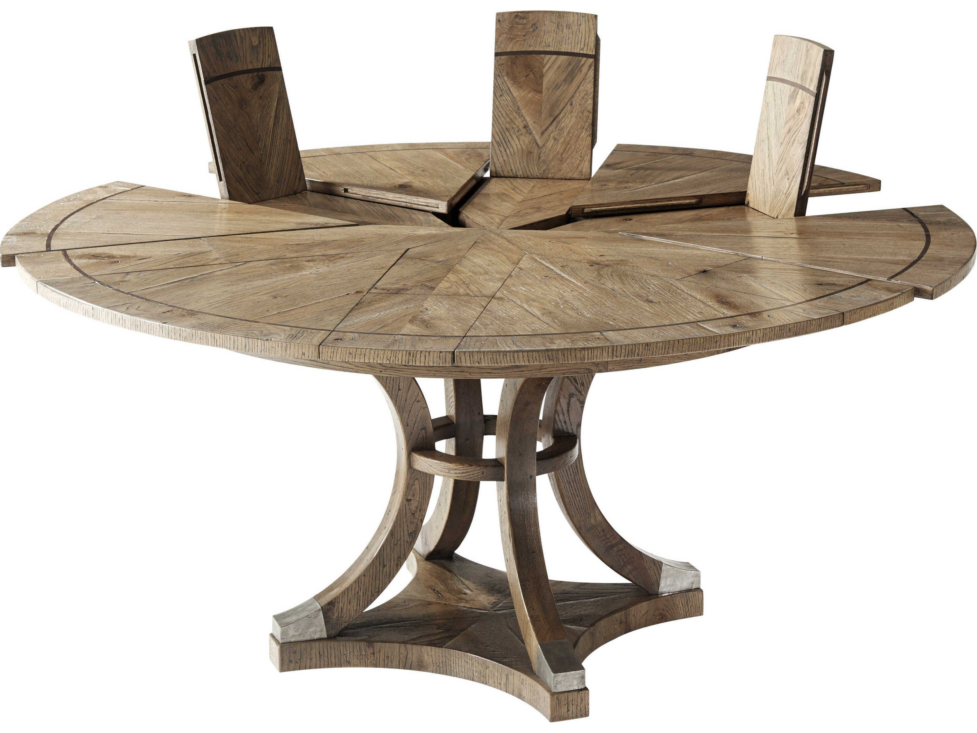 Theodore Alexander Echo Oak 9'' 9'' Wide Round Dining Table ...