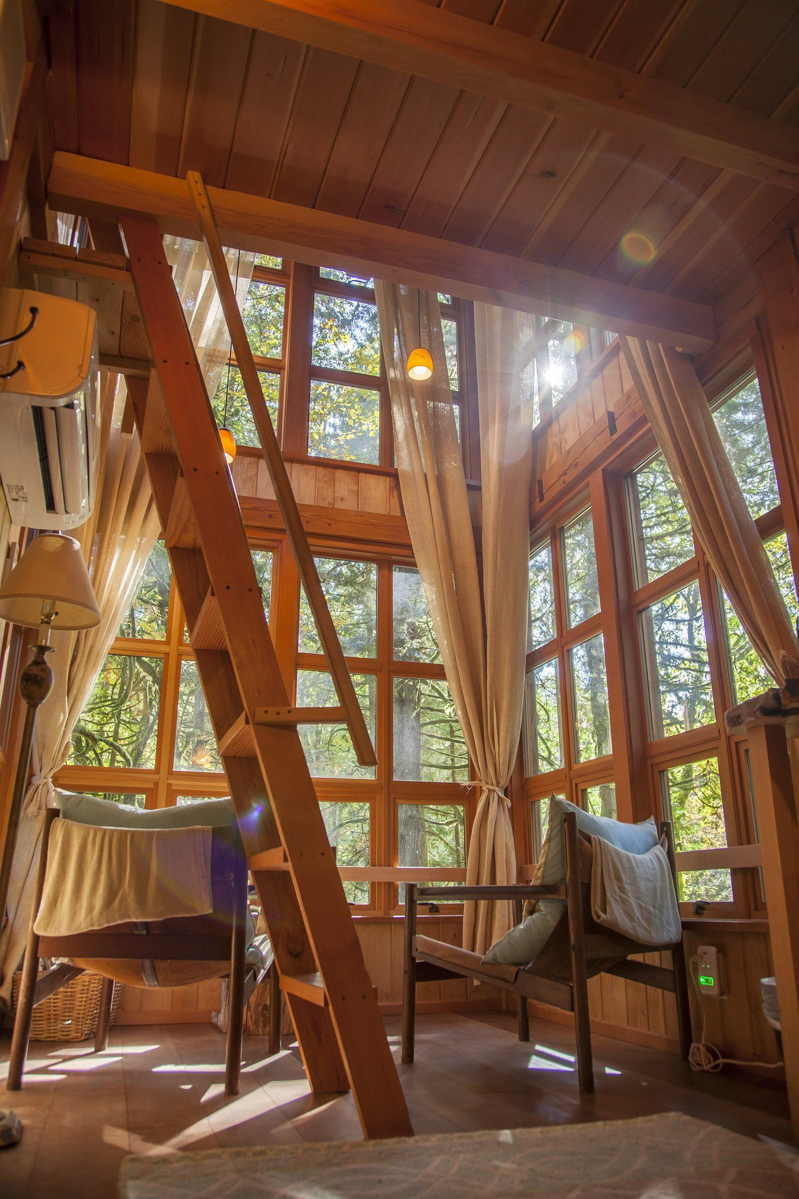 Inside Trillium At Treehouse Point Pete Nelson Nelson Treehouse Tree House Designs Tree House Tree House Interior