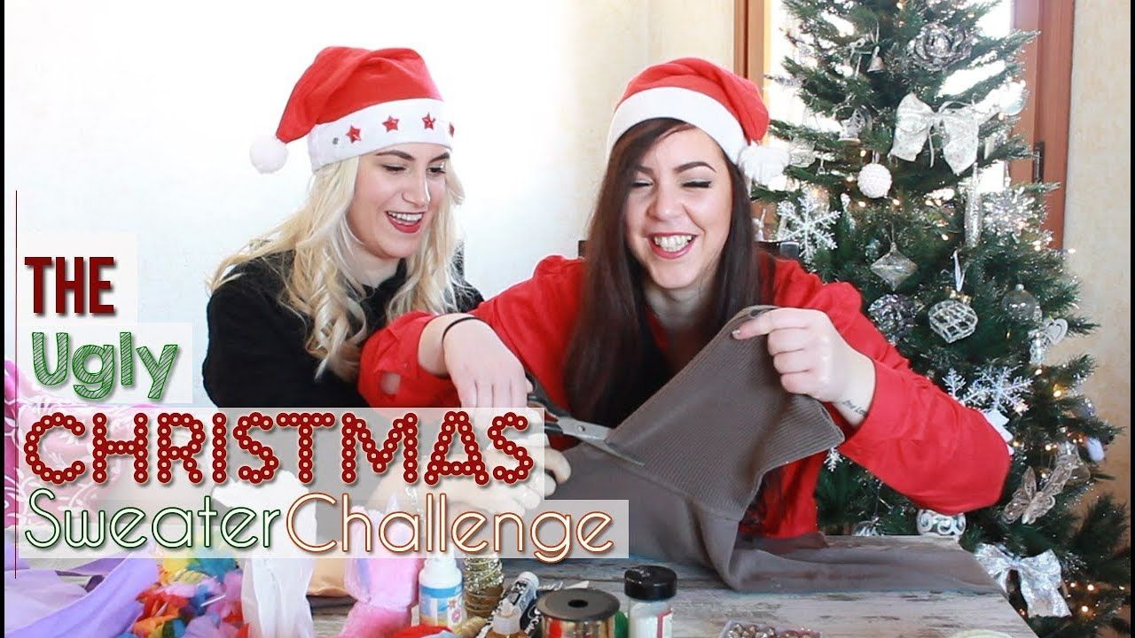 Ugly Christmas Sweater Challenge w/Lu | My YouTube Channel ...