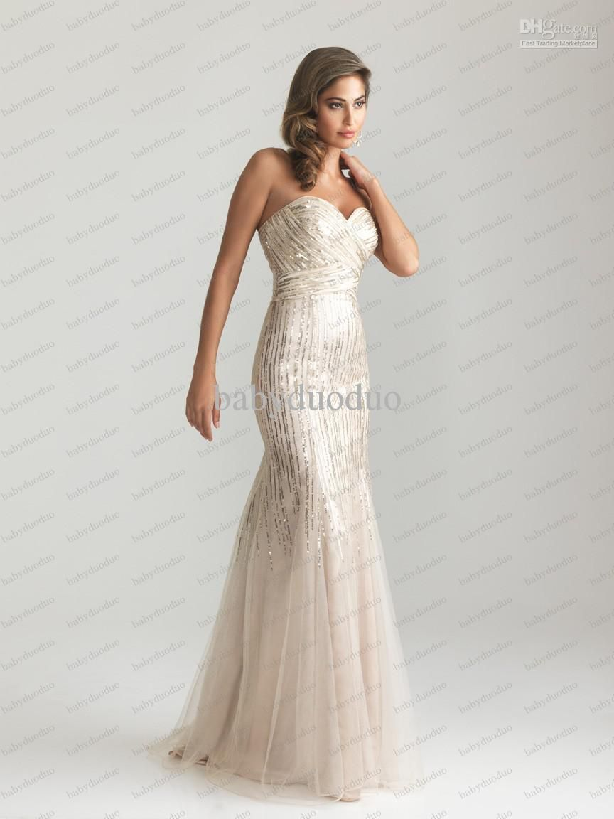 Sexy evening dresses mermaid night moves tulle sequin ruched party