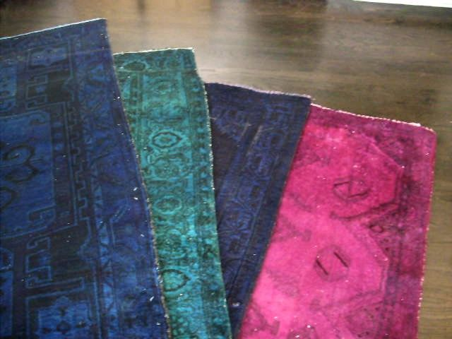 Vintage Persian Overdyed Carpets from LondonVarner on Etsy...they'll even dry your rugs.  Just stunning!