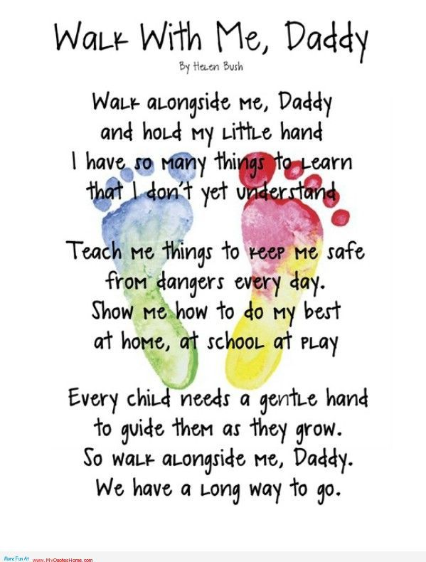 little girl sayings | Walk with me Daddy – father\'s day ...