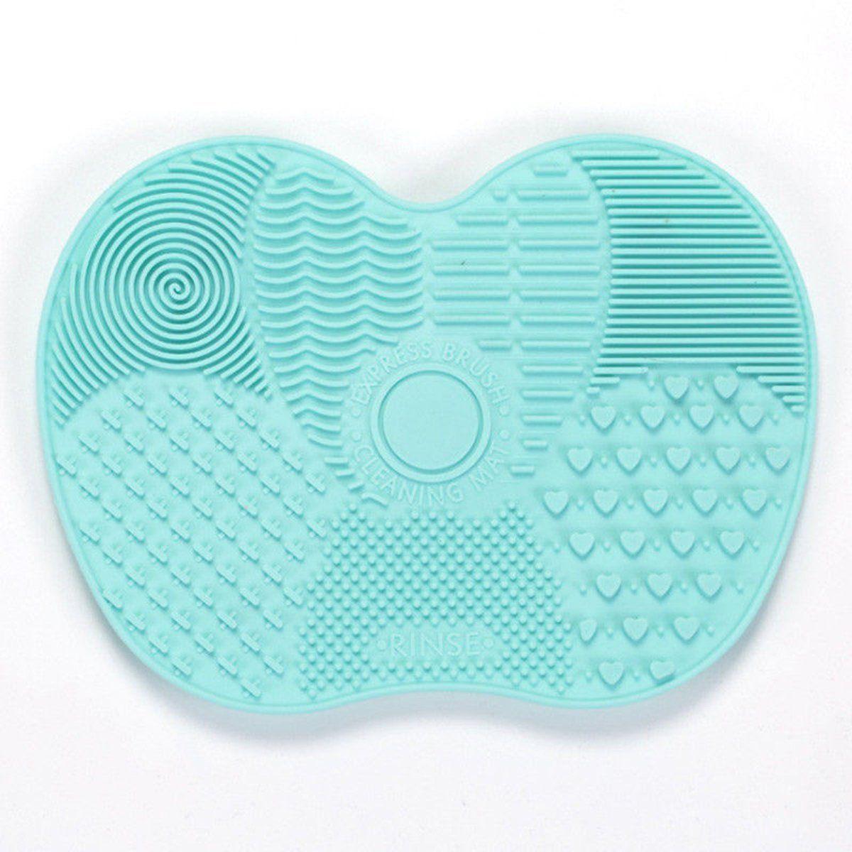 Silikon Make-Up Pinsel Reinigung Pad Matte Pinsel Waschen Werkzeuge Kosmetische Augenbraue Pinsel Reiniger Werkzeug Wäscher Bord Make-Up Reinigung – gruen