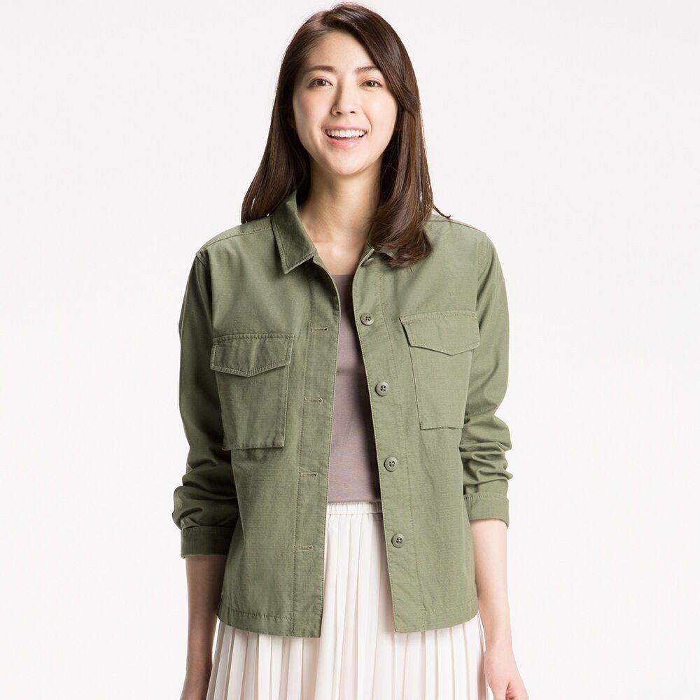 69611b6a6 800:UNIQLO WOMEN MILITARY SHIRT JACKET | My Style | Military jacket ...