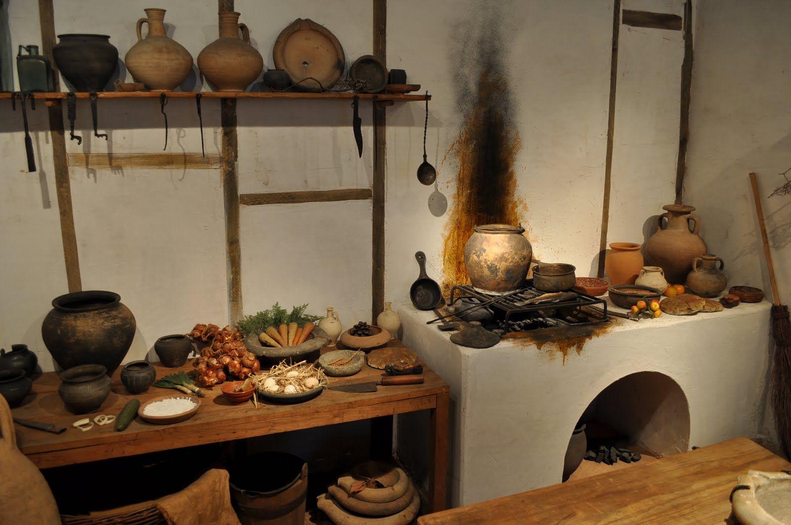 Reconstruction of a roman kitchen at the museum of london the ancient roman - La villa romaine antique ...