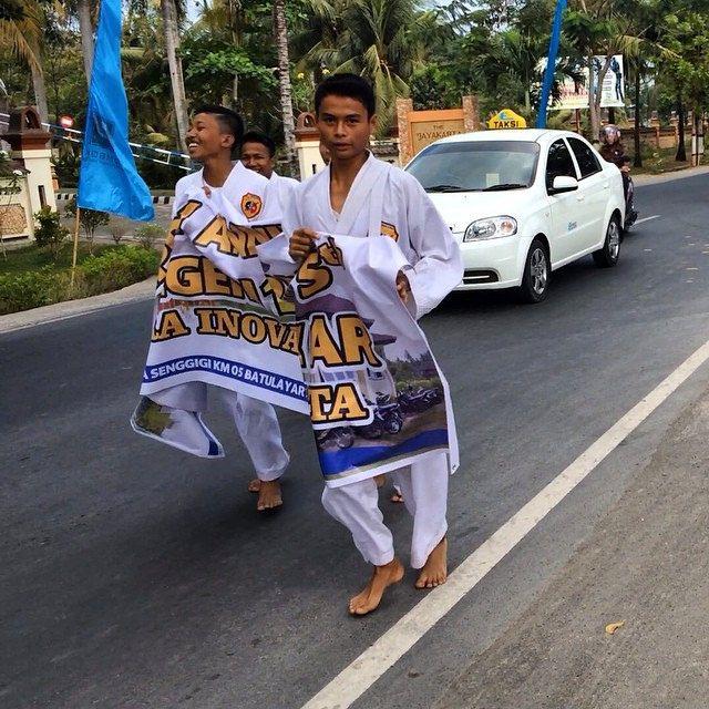 Celebration their schools anniversary   #lombok  #jayakartahotel @upsticksngo