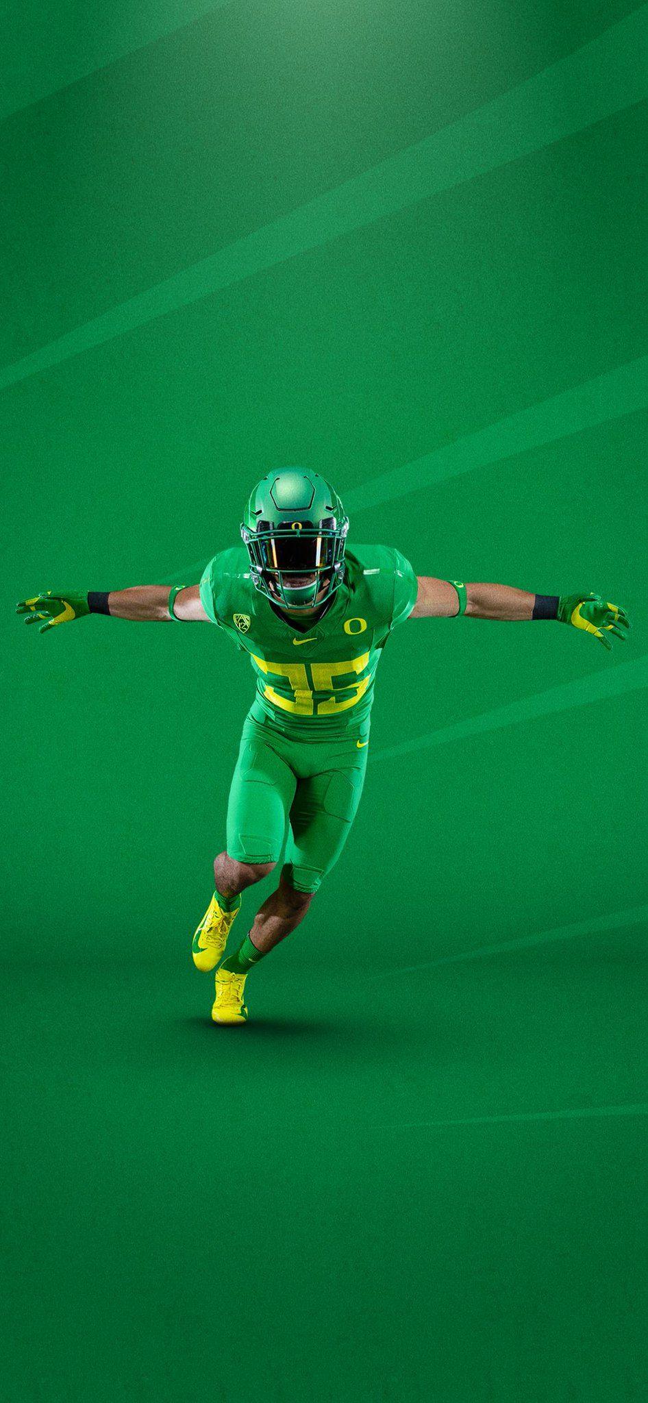 2019 University Of Oregon Ducks Football Uniforms All Green Oregon Ducks Football Oregon Football Football Wallpaper