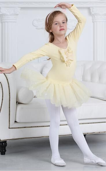 99c8e7d0b391 Hot Sale Long Sleeve Girl Dancing Cloth Children Girls Ballet Dress ...