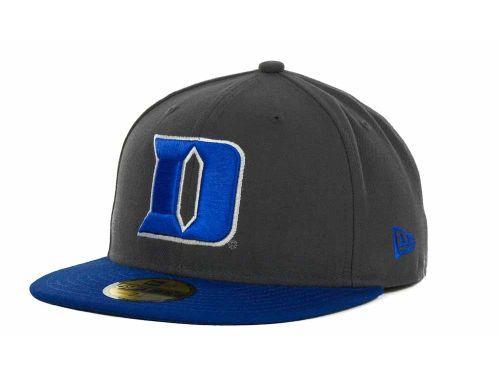 sports shoes 580c3 6304e Duke Blue Devils New Era NCAA 2 Tone Graphite and Team Color 59FIFTY Cap  Hats