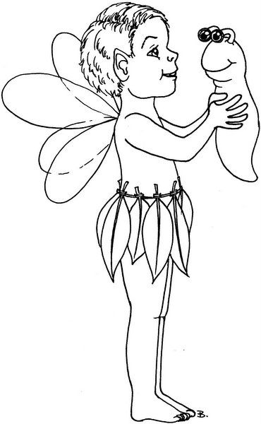 Boy Fairy (With images) | Digital stamps, Digi stamps ...