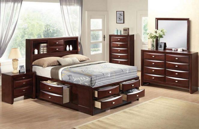 Amazing Queen Size Storage Bed Furniture Sets With Nightstand And