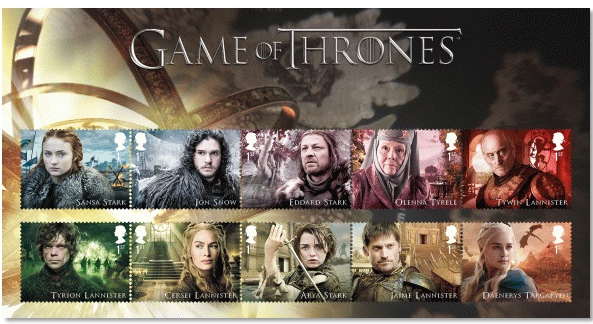 Royal Mail's Game of Thrones Stamp Collection available to