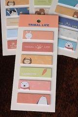 FREE SHIPPING - Kawaii Sticky Memo Set - Tribal Life
