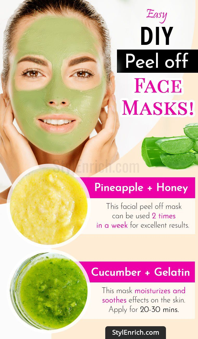 9 EasyPeasy DIYPeelOffFaceMasks For Beautiful And