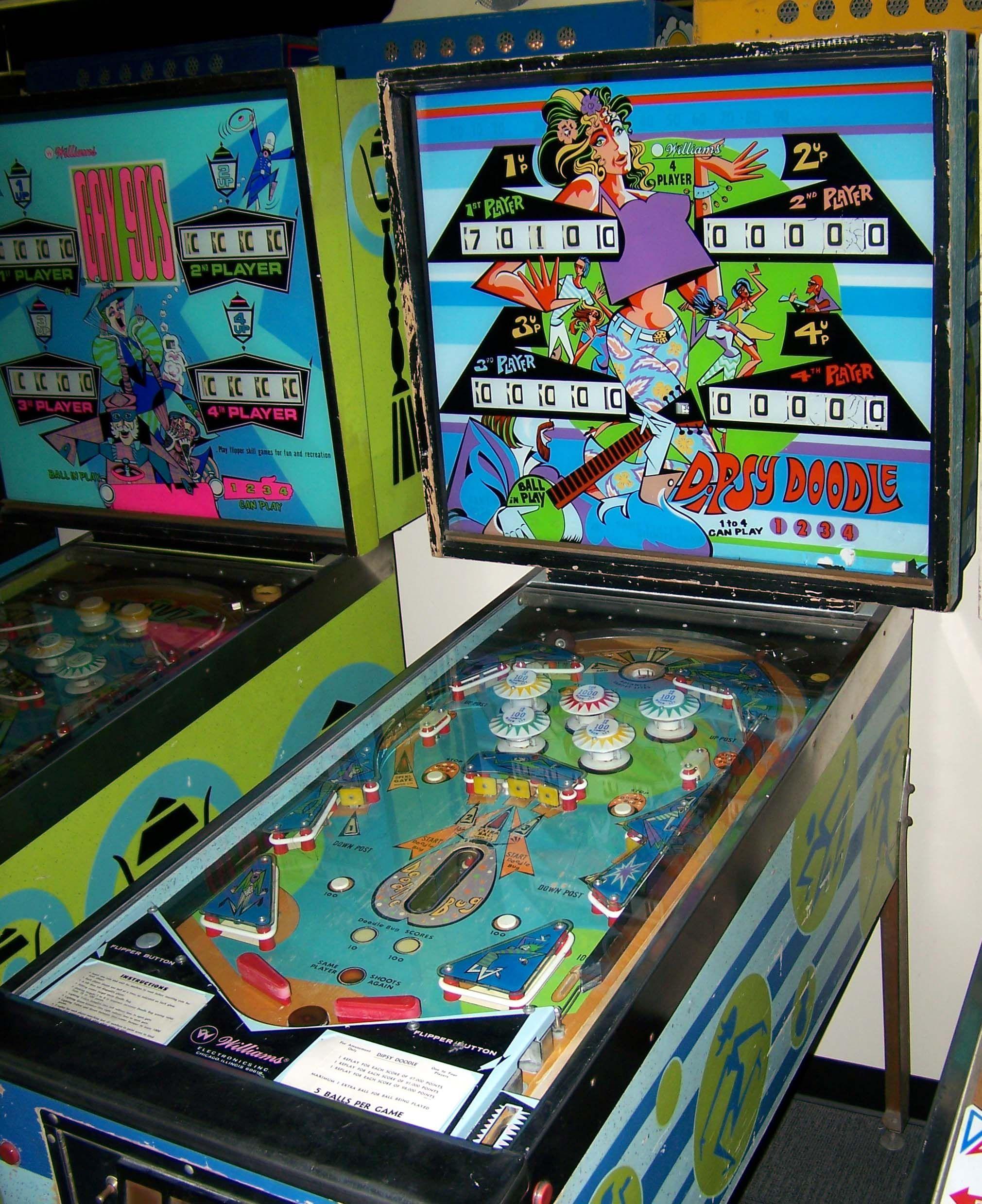 1970 Dipsy Doodle Williams Pinball Machine Pinball Pinball Machine Flipper Pinball