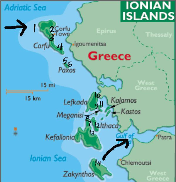 Map Of Ionian Islands Greece Image result for ionian islands | All things Greek | Paxos greece