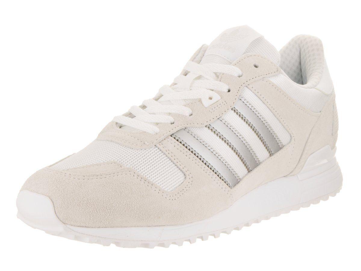 adidas originali uomini zx 700 scarpa da corsa, bianco / matte silver / bianco