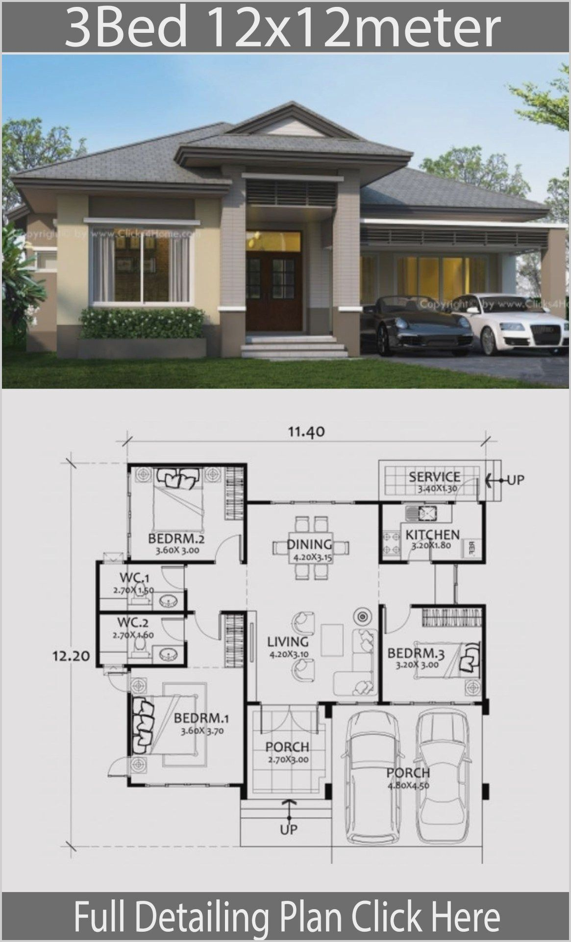 Large One Bedroom Modern Home Plans In 2020 House Construction Plan Modern Bungalow House Home Design Floor Plans