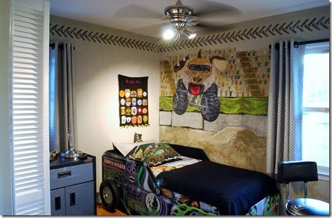 Monster Mutt And Grave Digger Monster Truck Bed Monster Trucks Kids Rooms Diy