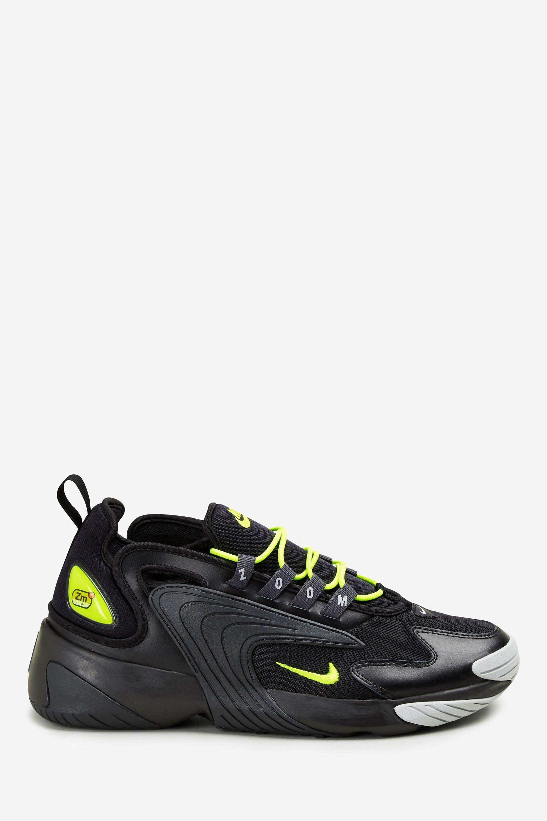 Mens Nike Black/Green Zoom 2K Trainers