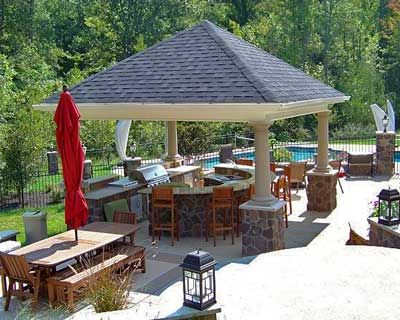 Covered outdoor kitchens plans for an outdoor for Covered outdoor kitchen plans