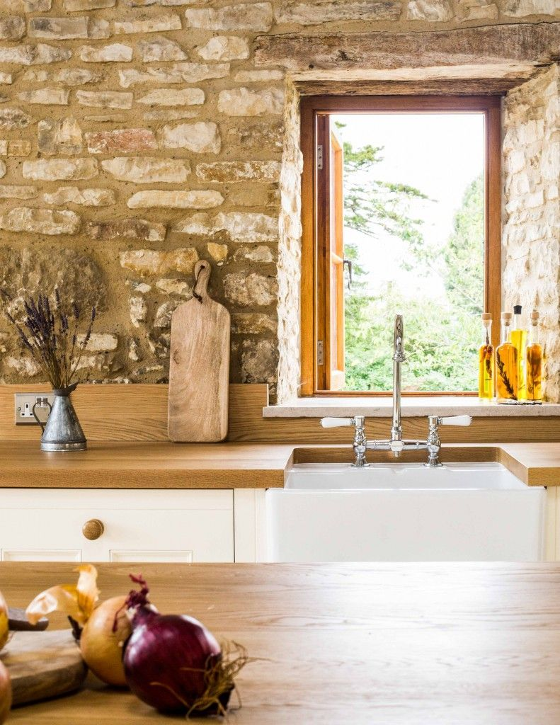A Traditional Country Kitchen | Oak worktops, Farrow ball and Window ...