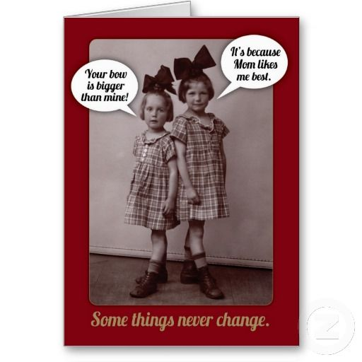 Funny Vintage 1920s Older Sister Birthday Card You Are Not Serious