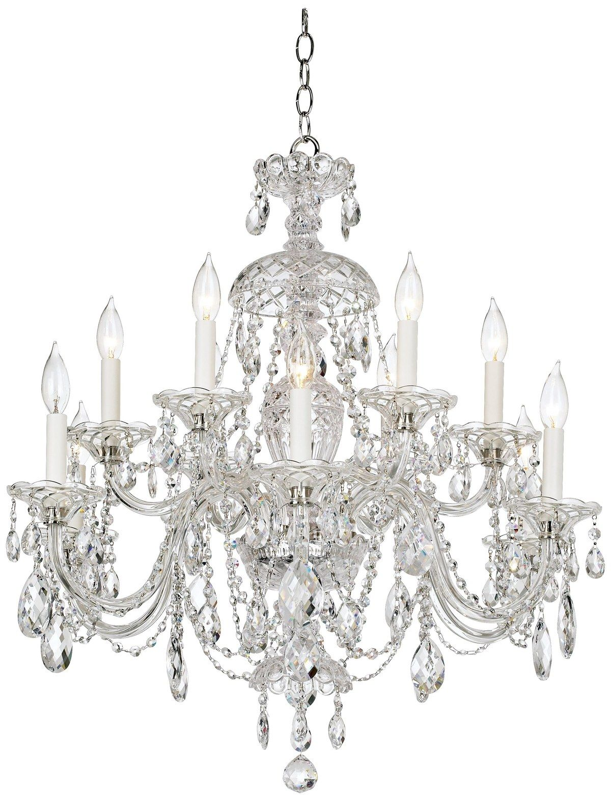 12 crystal chandeliers to add sparkle to any room lights pinterest chandeliers crystals for Crystal chandeliers for bedrooms