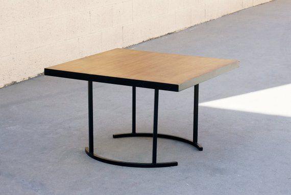 Vintage Half Moon Side Table Custom Made Modernist Inspired
