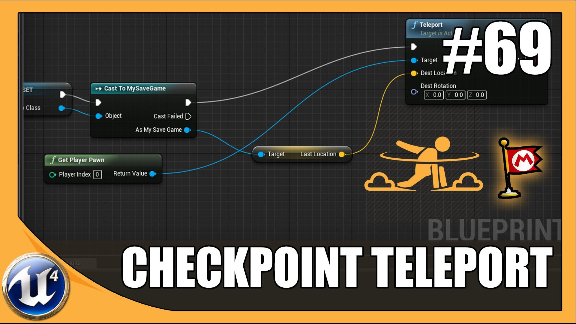 Teleporting Player To Checkpoint On Level Load | Unreal