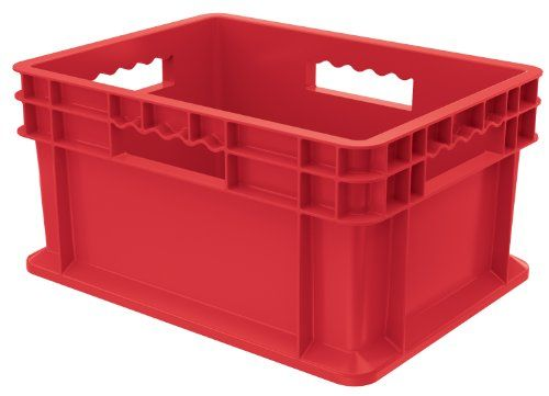 Akromils 37288red 16inch By 12inch By 8inch Straight Wall Container Plastic Tote With Solid Sides With Images Ikea Storage Cabinets Storage Cabinets Wood Storage Cabinets