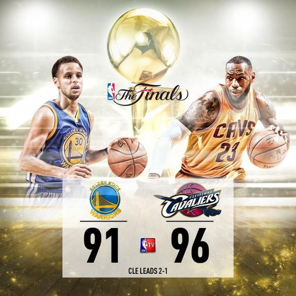 6/9/15  Via NBA TV:  A near triple-double for #KingJames leads the #cavs to a home victory and 2-1 series lead! #NBAFinals #Lebron