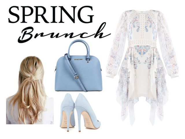"""""""Spring Brunch"""" by inesfragosa ❤ liked on Polyvore featuring BCBGMAXAZRIA, Dee Keller and Michael Kors"""
