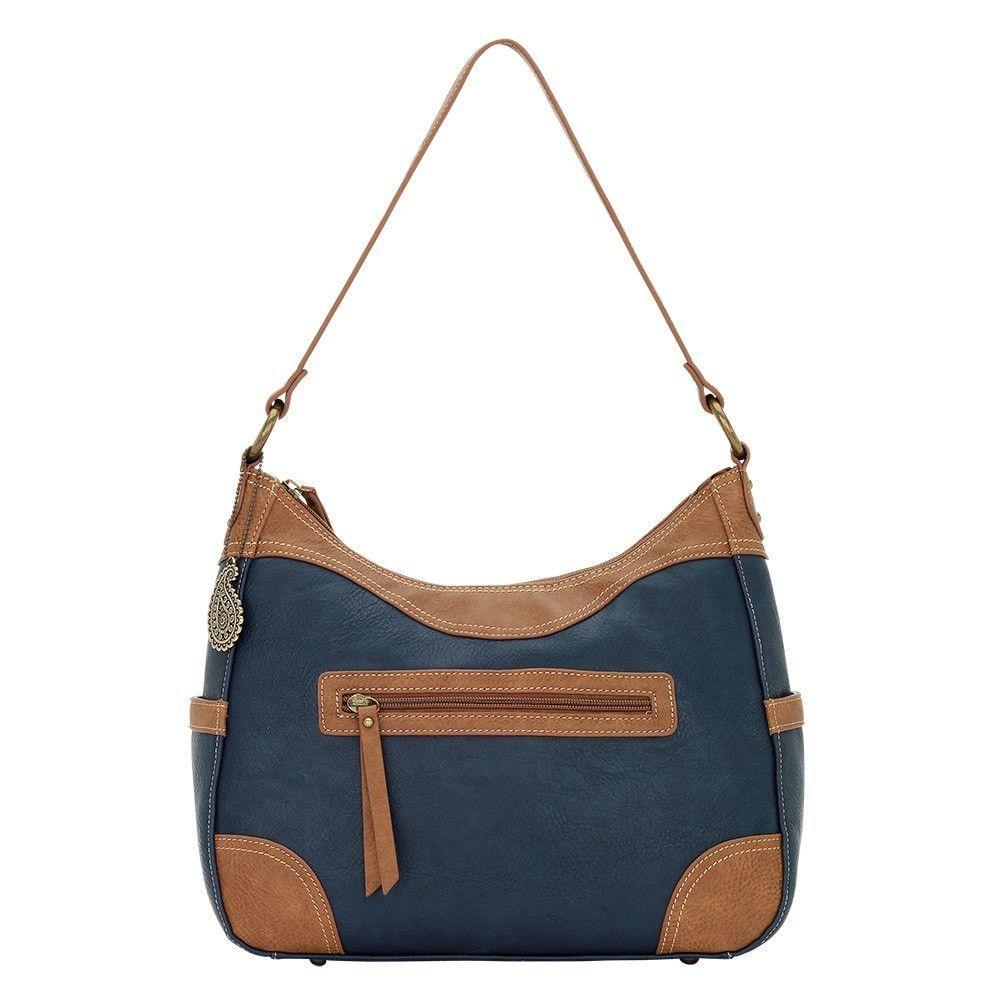 American West Bandana Zip Top Shoulder Handbag Tan Concealed Carry