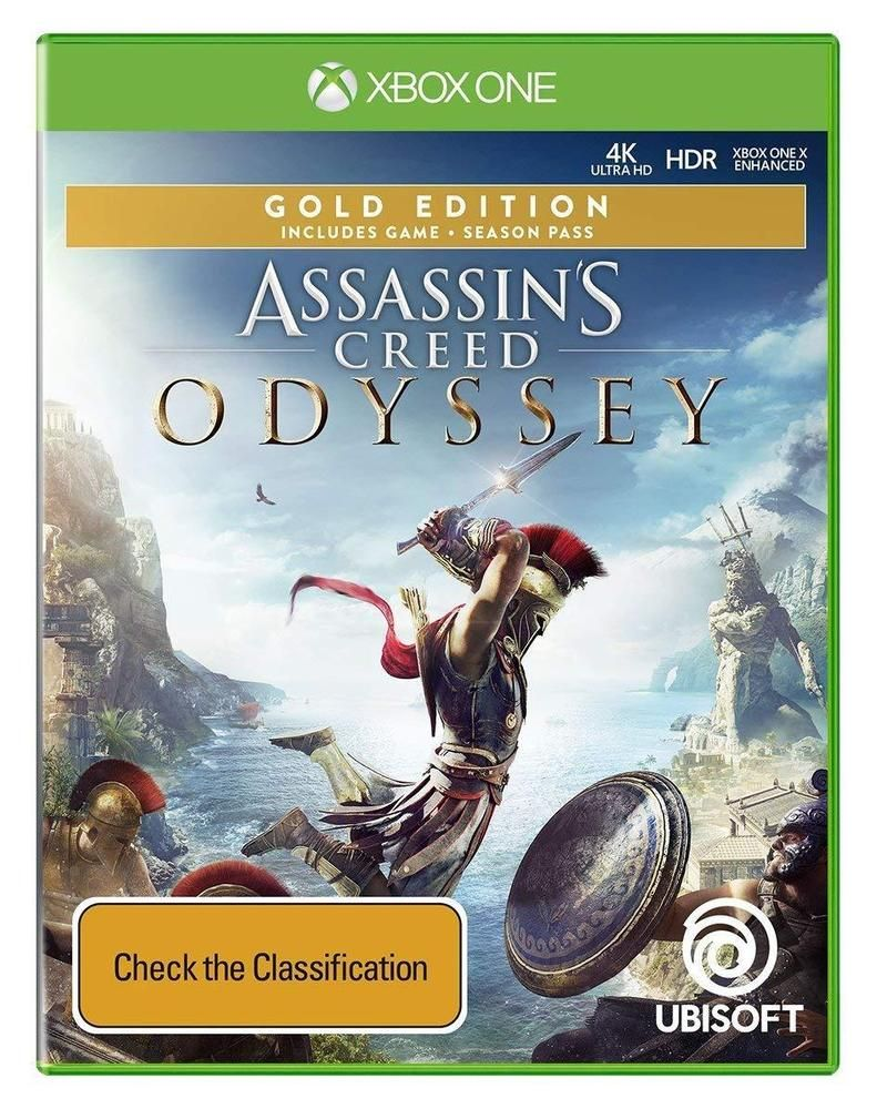 Assassins Creed Odyssey Gold Edition Season Pass Game For Microsoft Xbox One Xb1 Ubisoft