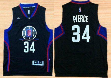 42505e282 Men s Los Angeles Clippers  34 Paul Pierce Revolution 30 Swingman 2015-16  Black Jersey