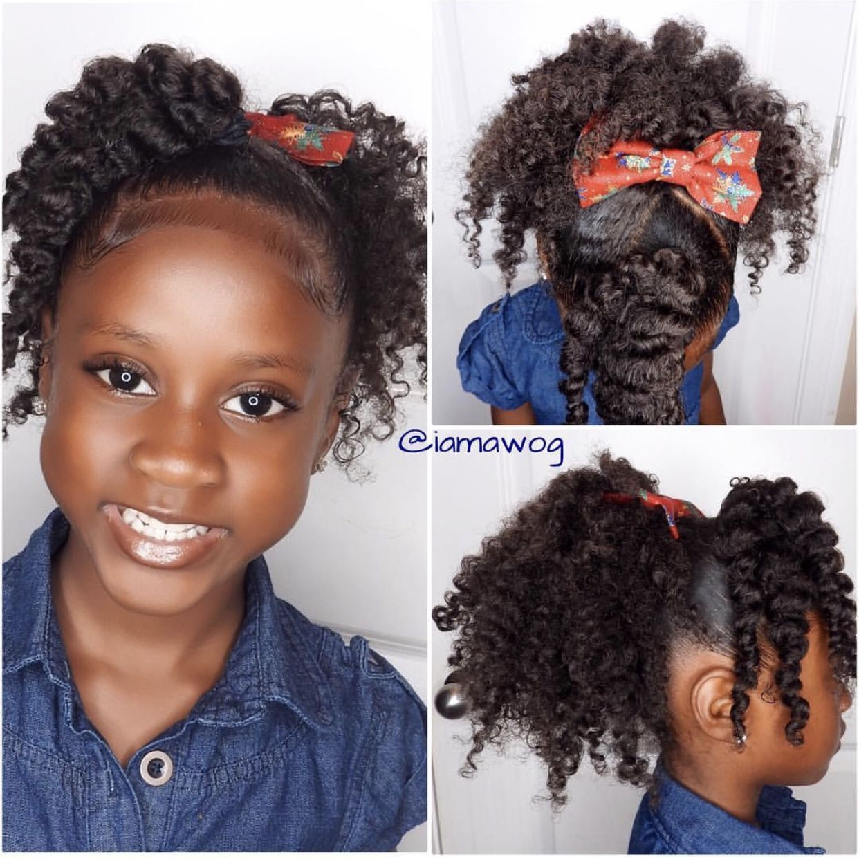 Christmas Natural Hairstyles For Kids Holiday Hair Shop Www