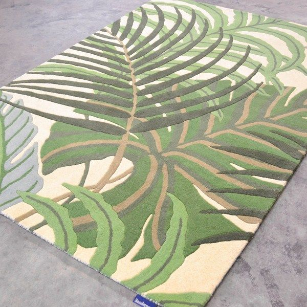 Sanderson Manila Rugs 46407 In Green Free Uk Delivery